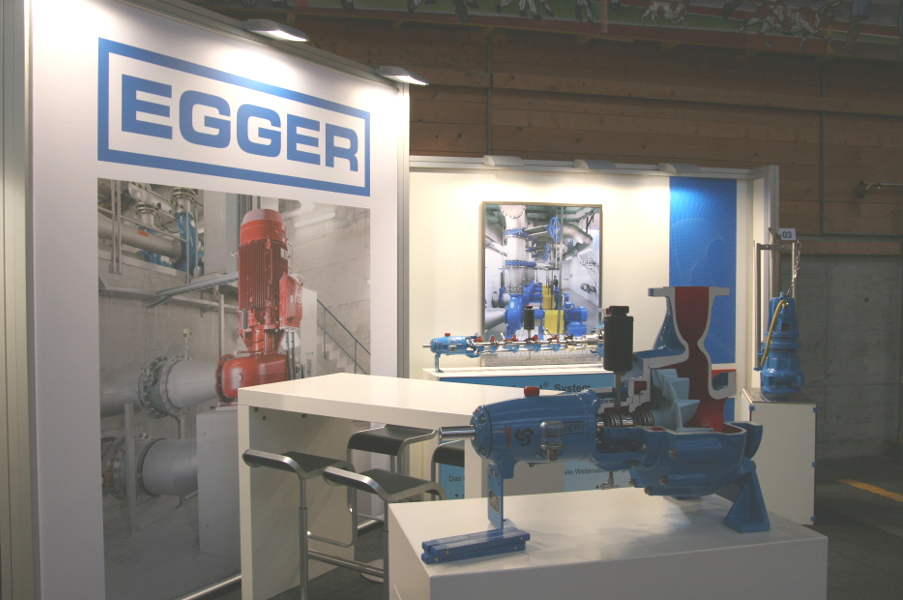 Small Trade show booth of Emile Egger