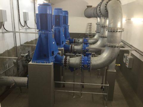 Vorflutpumpanlage PAV Leyenburg Egger Prozesspumpen EO 10-400 V6 LB6B