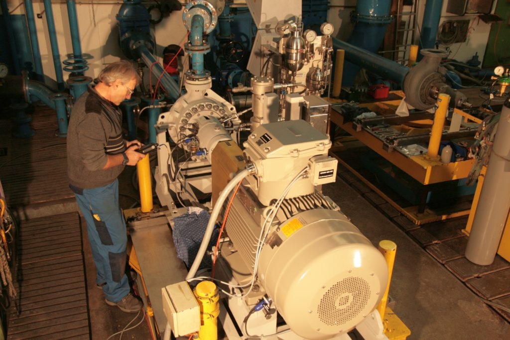 Egger Offhore Process Pump on Test bed