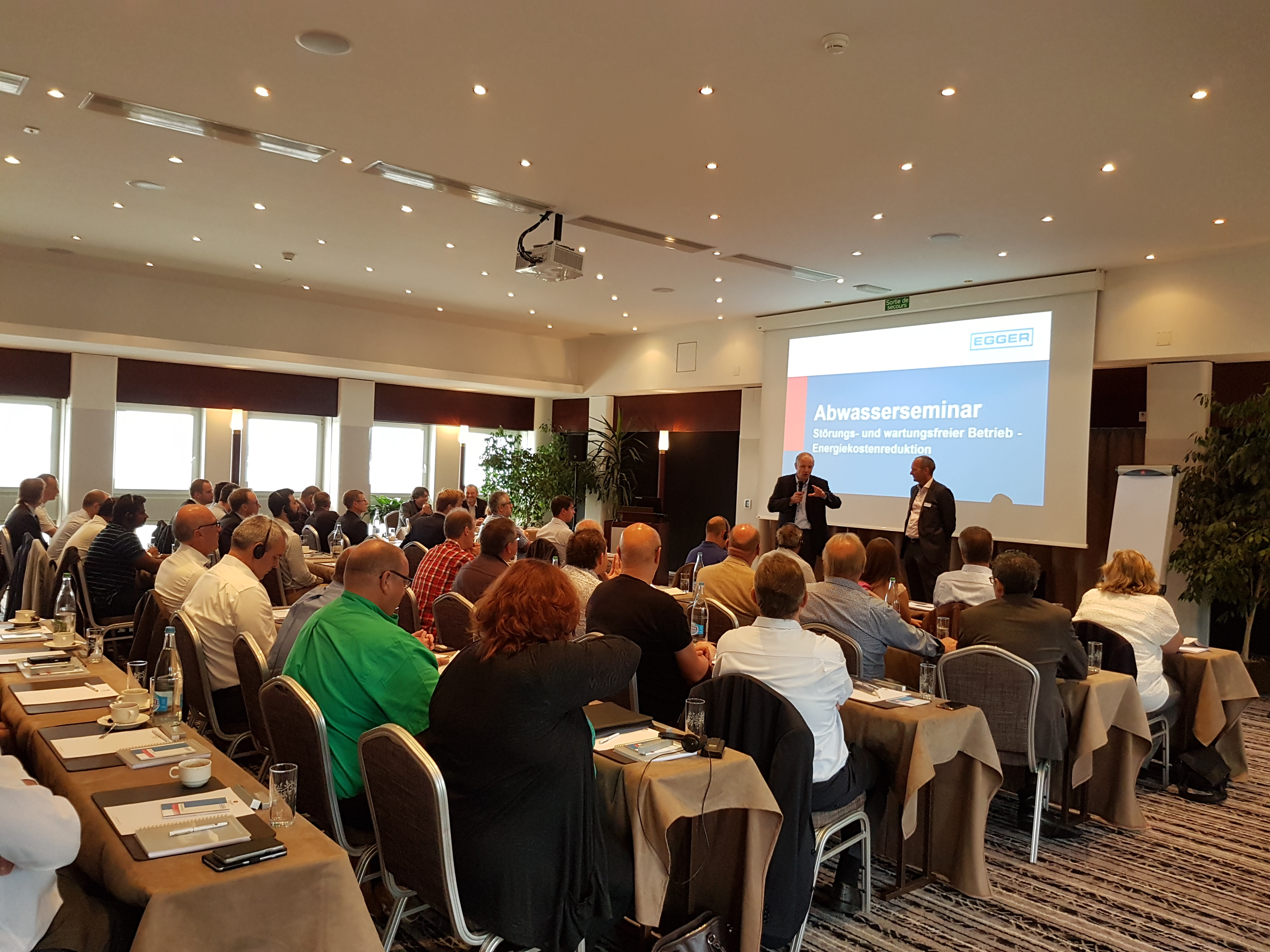 as part of the 70th anniversary on friday 8th of september egger organized two pump seminars in neuchtel on the subject of process