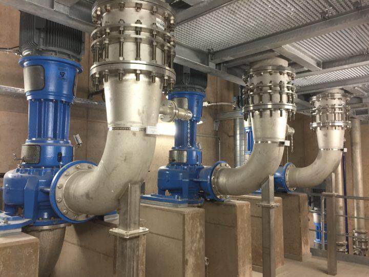 Rohabwasserpumpwerk mit Egger Freistrom- und Mehrkanalradpumpen für den EVS in St. Ingbert