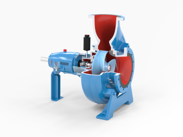 EOA – Energy-efficient and clog-resistant raw sewage pump
