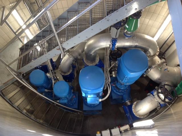 Egger Turo® Pumpen auf engstem Raum in Lingen DE