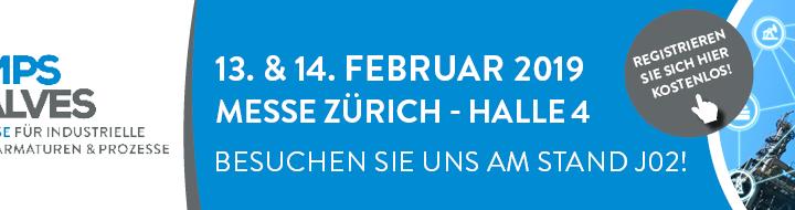 Willkommen an der Pumps & Valves in Zürich 13. – 14. Februar